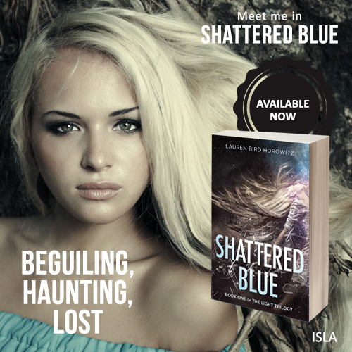 ISLA: beguiling, haunting, lost. Meet her in Shattered Blue.