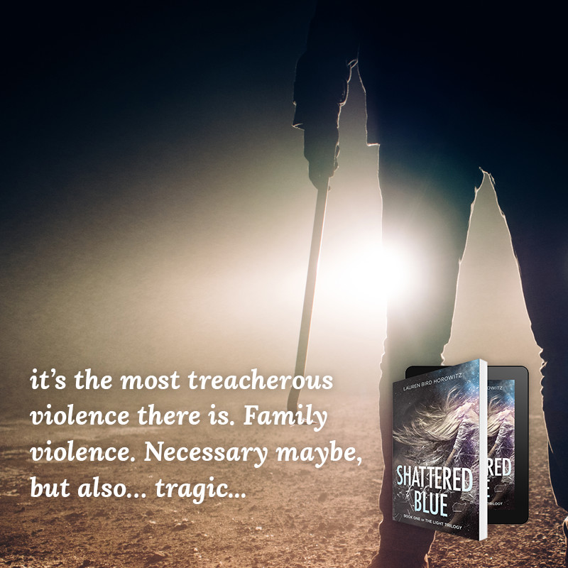 it's the most treacherous violence there is. Family violence. Necessary maybe, but also… tragic...